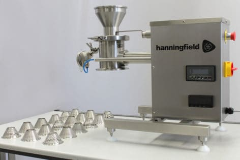 A range of screen hole size, screen hole shape and impeller tooling is available with the laboratory mill.